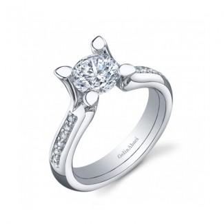 Gelin Abaci 14k White Gold Diamond Engagement Ring TR-243