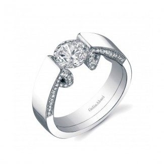 Gelin Abaci 14k White Gold Diamond Engagement Ring TR-253