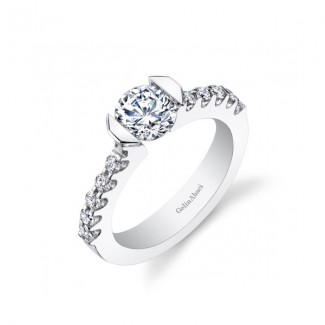 Gelin Abaci Tension Set Diamond Twist Engagement Ring TR-264