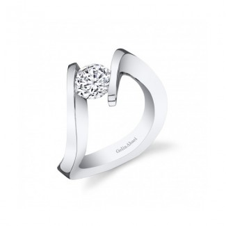Gelin Abaci Unique Twist Tension Set Engagement Ring TR-279