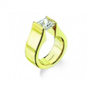 Gelin Abaci 14k Yellow Gold Diamond Engagement Ring TR-095