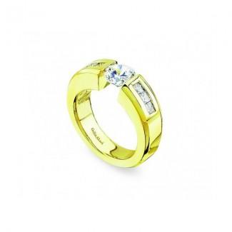 Gelin Abaci 14k Yellow Gold Diamond Engagement Ring TR-107