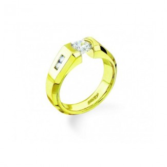 Gelin Abaci 14k Yellow Gold Diamond Engagement Ring TR-135