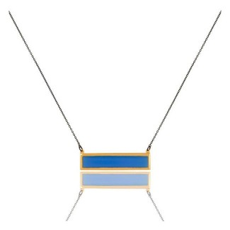 Bar Necklace In Reclaimed Sterling Silver + 22K Gold Vermeil
