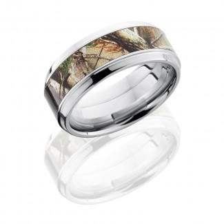 Lashbrook Cobalt Chrome 9mm Beveled Band With 5mm Of Realtree Ap Camo CCCAMO9B15(S)/RTAP