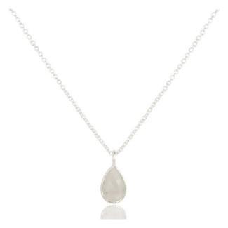 Celine Teardrop Necklace In Reclaimed Sterling Silver