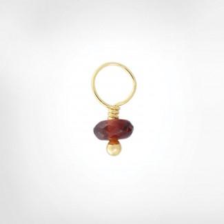 Red Garnet Faceted Rondelle