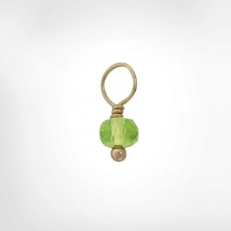Peridot Faceted Rondelle