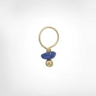 Blue Sapphire Unfaceted Rondelle