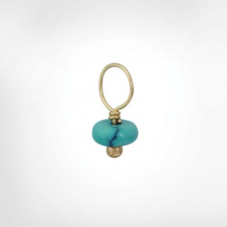 Vein Turquoise Unfaceted Rondelle