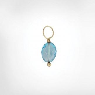London Blue Topaz Faceted Oval