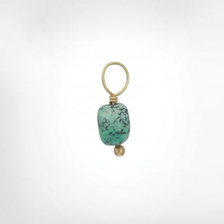 Vein Turquoise Unfaceted Cylinder