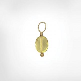 Lemon Citrine Faceted Oval