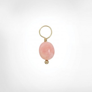 Pink Opal Unfaceted Oval