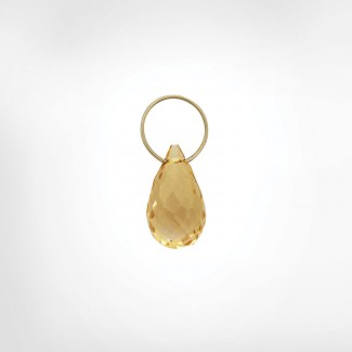 Champagne Quartz High Faceted Drop