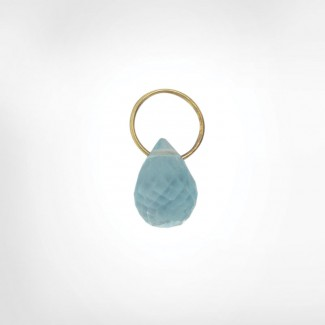 Blue Topaz High Faceted Drop