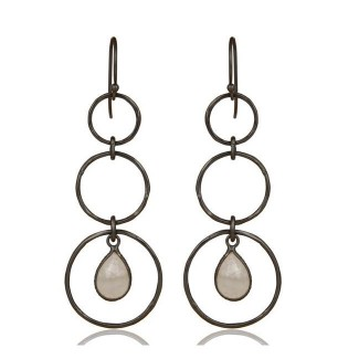 Harper Earrings In Oxidized Reclaimed Sterling Silver
