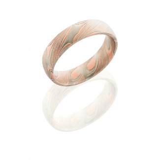 Lashbrook Mokume 5mm Domed With Pd, Ss M5D14R14KWSS