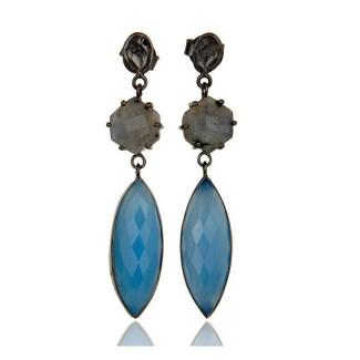 Madison Earrings In Oxidized Reclaimed Sterling Silver