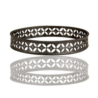 Olivia Bangle Bracelet In Oxidized Reclaimed Sterling Silver