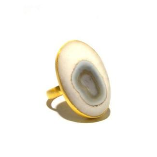 Solar Ice Quartz Ring In Gold