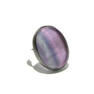 Mixed Metal Rainbow Fluorite Ring