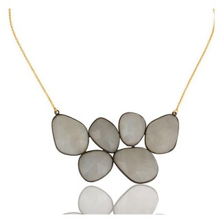 Riviera Necklace In Reclaimed Sterling Silver + 22K Gold Vermeil