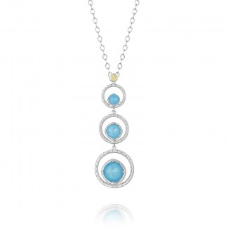 Skipping Stone Necklace featuring Neo-Turquoise