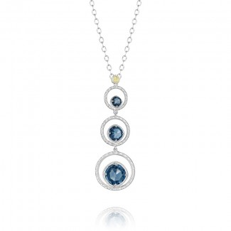 Skipping Stone Necklace featuring London Blue Topaz