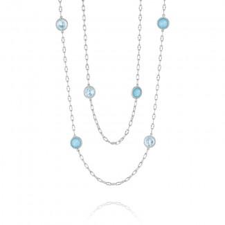 "38"" Raindrops Necklace featuring Assorted Gemstones"