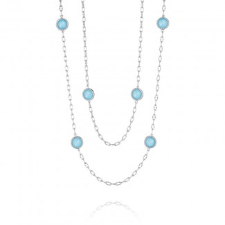 """38"""" Raindrops Necklace featuring Neo-Turquoise"""