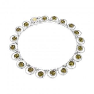 Tacori Tacori Vault Gem Circle Necklace featuring Olive Quartz