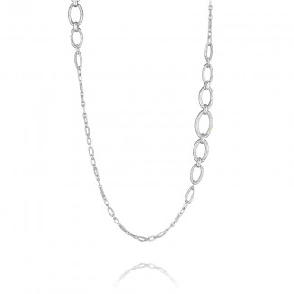 Tacori City Lights After Dark Silver Link Chain Necklace