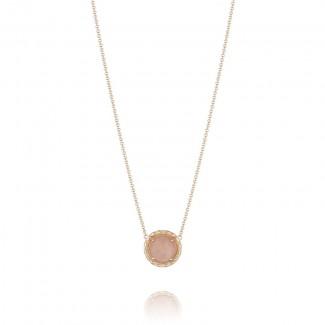 Tacori Moon Rosé Gem Coin Pendant