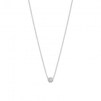 Petite Dew Drop Pendant featuring Pavé Diamonds