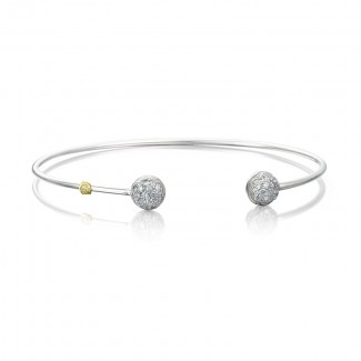 Tacori Silver Wire Dew Drop Cuff featuring Pave Diamonds