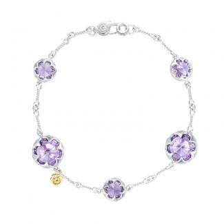 Multi Gem Chain Bracelet featuring Amethyst