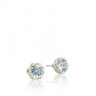 Crescent Crown Studs featuring Sky Blue Topaz SE105Y02