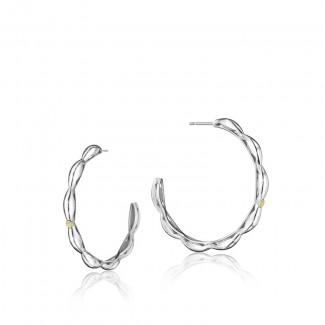Crescent Contour Hoop Earrings