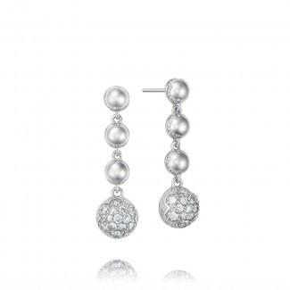 Cascading Drop Earrings featuring Pavé Diamonds