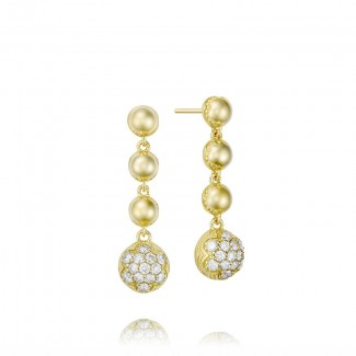 Cascading Drop Earrings featuring Pavé Diamonds SE206Y