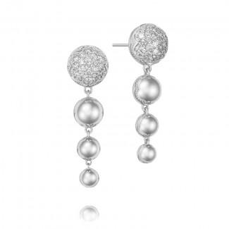 Ascending Drop Earrings featuring Pavé Diamonds