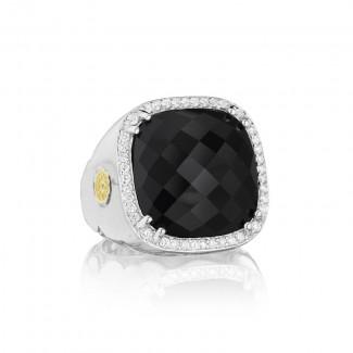 Tacori City Lights After Dark Cushion Cut Pave Gem Ring