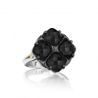 Tacori City Lights After Dark Lotus Four Gem Tilt Ring