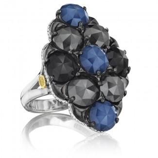 Tacori City Lights After Dark Multi-Color Gem Cluster Ring
