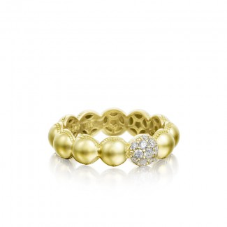 Pavé Dew Droplets Ring in Yellow Gold with Diamonds