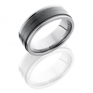 Lashbrook Ceramic And Tungsten 8mm Flat Band TCR8422