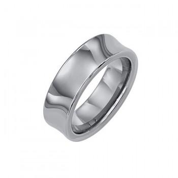 Triton 7mm Concave Bright Polish Tungsten Carbide Comfort Fit Band 11-01-2094