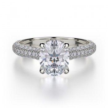 MICHAEL M Platinum Engagement Ring R708-2-PT