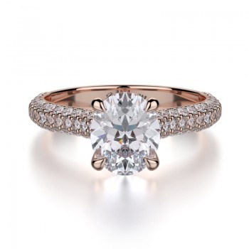 MICHAEL M 18k Rose Gold Engagement Ring R708-2-18R